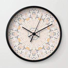 BOHO SUMMER JOURNEY MANDALA - SUNSHINE YELLOW GREY Wall Clock