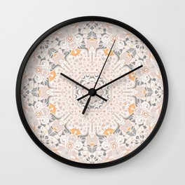 BOHO SUMMER JOURNEY MANDALA - SUNSHINE YELLOW GREY Wall Clock