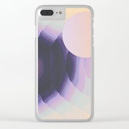 Ultraviolet Impulses Clear iPhone Case