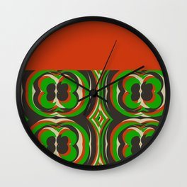 '70s TAPESTRY Wall Clock