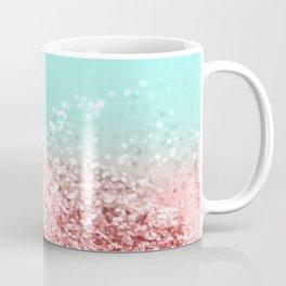 Summer Vibes Glitter #5 #coral #mint #shiny #decor #art #society6 Coffee Mug