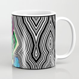 Birth of a Blob Black & White Shockwave Coffee Mug