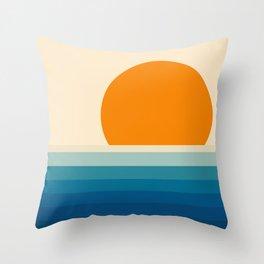 Minimal line landscape II Throw Pillow