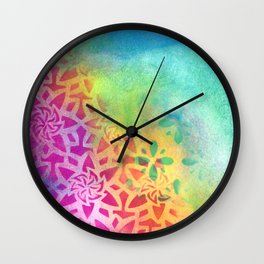 Between the pink and the blue Wall Clock