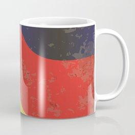 German Flag Grunge Coffee Mug