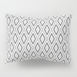 Black and White Abstract Rhombus Seamless Pattern 1 Pillow Sham