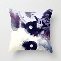 freud Throw Pillows featuring freud' ego by ferzan aktas