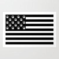 US Minifigure Flag - Horizontal Art Print