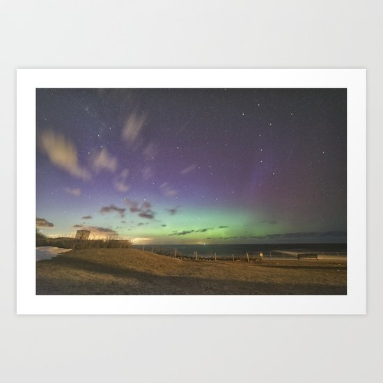 St. Patrick's Day Aurora in Rockport Art Print