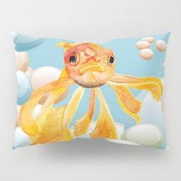 Vermillion Goldfish Blowing Bubbles Pillow Sham