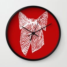 White bow Wall Clock