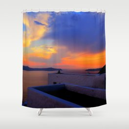 Enjoy the sunset Shower Curtain