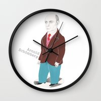 arnold Wall Clocks featuring Arnold Schönberg by Euge Ábalos Classical Composers