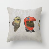 kubrick Throw Pillows featuring A Tribute To Stanley Kubrick by Brian Atkinson