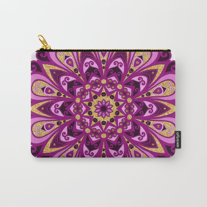Magenta Madness Mandala Carry-All Pouch