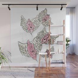 FLYING VULVAS Wall Mural