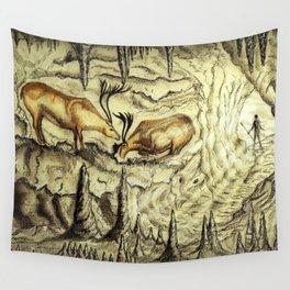 Rock Shelter Reindeer  Wall Tapestry