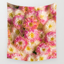 Pink and Yellow Flower Pattern (Color) Wall Tapestry