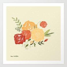 Rose Bouquet Art Print