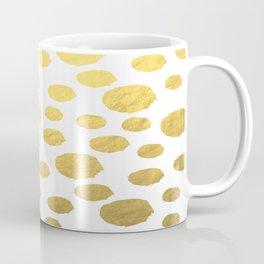 Gold Polka Art Coffee Mug