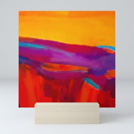Arizona Sunset in a Pop Art abstract style Mini Art Print