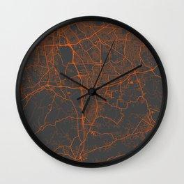 Louisville map 2 Wall Clock