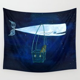 Flying the ocean Wall Tapestry