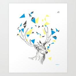 Rainbow Collection / deer Art Print