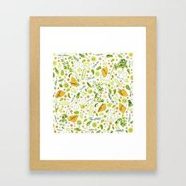 Fruits and vegetables pattern (20) Framed Art Print
