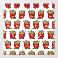 fries Canvas Prints featuring French Fries by Mobii