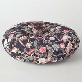 Animals and Floral Pattern Floor Pillow