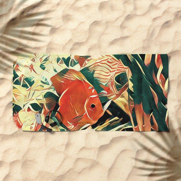 Small Fish Beach Towel
