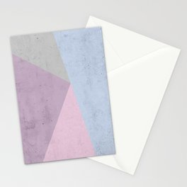Cold Tones Geometry Stationery Cards