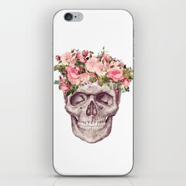 flower crown skull iPhone Skin