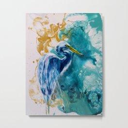 Blue Egret. Metal Print