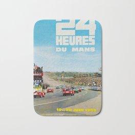 1965 Le Mans poster, Race poster, car poster, garage poster Bath Mat