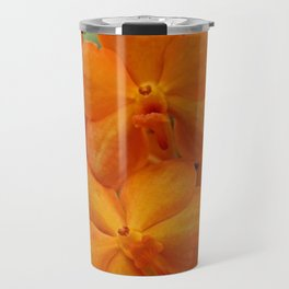 Orange Orchids Travel Mug