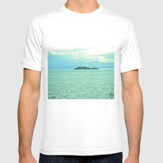 The intensity of the sea. Mens Fitted Tee MEDIUM White