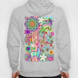 Mandalas, Cats & Flowers Fantasy Pattern Hoody