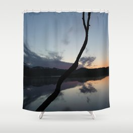 Sunset on lake, Nature Photography, Landscape Photos, sunset photos Shower Curtain
