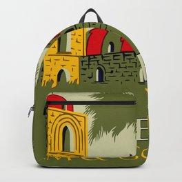 Retro Palermo Sicily hotel travel ad Backpack
