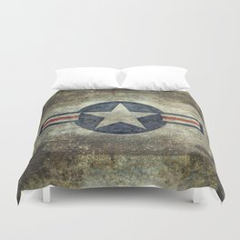 US Airforce style Roundel insignia V2 Duvet Cover