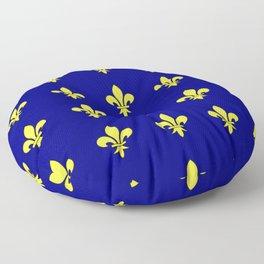 Fleur de lys 1-lis,lily,monarchy,king,queen,monarquia. Floor Pillow