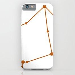 Libra (Bronze & White) iPhone Case