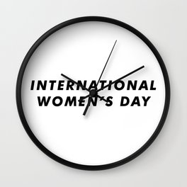 International Women's Day Aesthetic Wall Clock