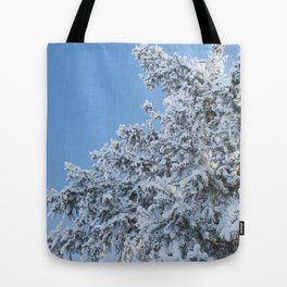 Frosted Tree 2 Tote Bag