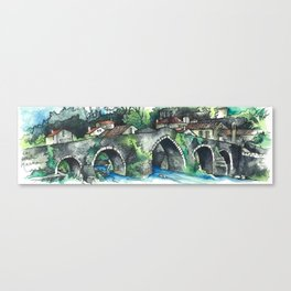 Camino Finisterre - Puente Maceira Canvas Print
