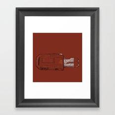 Rey's Speeder Framed Art Print