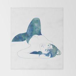 Opal Mermaid Throw Blanket