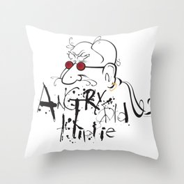 Angry Old Hippie (Original) Throw Pillow